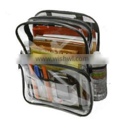 Promotional cheap simple clear backpack