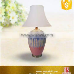 Folk art design lamp lighting side table lamps for bedroom