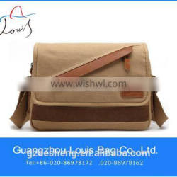 Factory Outlet canvas messenger bags wholesale for teenagers