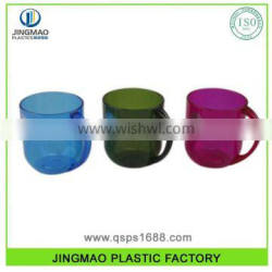 Colorful PS OEM Service Plastic Hard Mug With Handle For Kids