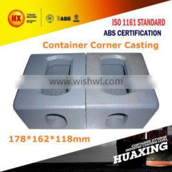 Container Corner Casting ISO 1161 Fitting Parts Painted Standard Shipping Cargo