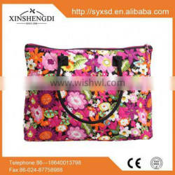 Best seller cotton floral quilted trendy folding labels for handbags