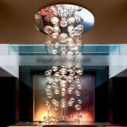 blown empty glass ceiling lamp