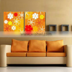 colorful custom flower painting canvas