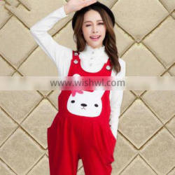zm31160a new designs fashion maternity clothing women suspender trousers
