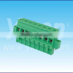 Dongguan Yxcon perfect quality 7.62mm pitch PCB pluggable quick connector Terminal Block