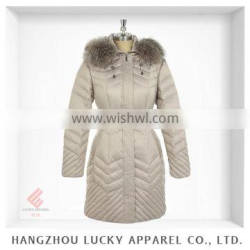 european style lady fashion real fur winter down feather jacket LK15028-A
