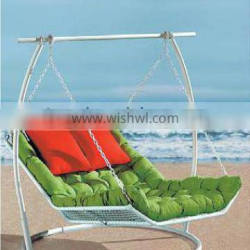 Best selling outdoor furniture D-1009 ren/green and white hanging garden swing chairs