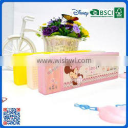 Logo printed colorful plastic pencil box for the exhibition