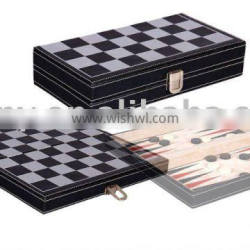 Wooden Foldable Chess & Backgammon Set