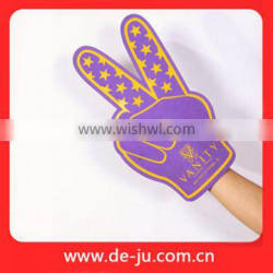 Purple Dots Printing Two Fingers Cheering Foam Sponge Hand