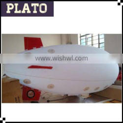 White Inflatable Sky Helium Airship inflatable Blimp Balloon for sale