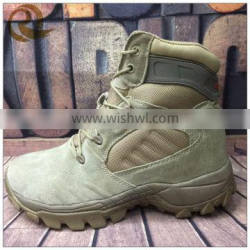 Wholesale Leather khaki waterproof short ankle army military tactical boots