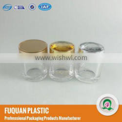 Transparent acrylic jar for tea package with diamond screw cap , 80g plastic container