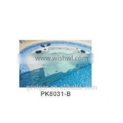 factory massage hot tub air jet massage outdoor spa hot tub half round bath tub