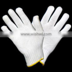 Heat Wave Nylon / Polyester Gloves 7 Gauge Polyester Enhanced Dry Heat Protection Flexible Grip Lint Free White