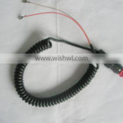 Frosted Black Spiral Cable OEM