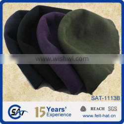 Custom color 100% wool felt hood, cone capeline