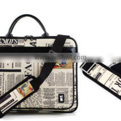 11.6 Inch Fashion Design Leather Laptop Bag with Accessories Pouch