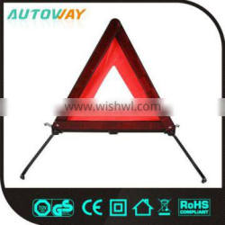 red car triangle warning sign, car emergency kit