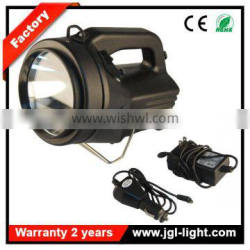 Factory outlet rechargable powerful searchlight battery operated 35W HID three type of bulbs HID HAL LED marine searchlight