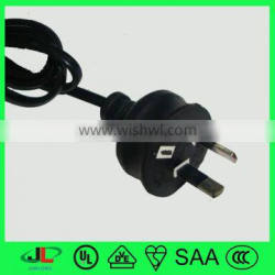SAA lamp power cord, australia 220 volt power cord, female power cord ends