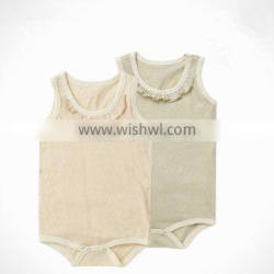 High quality blank organic cotton baby girl blank baby rompers