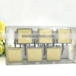 Square Beige Polyresin Shower curtain hooks