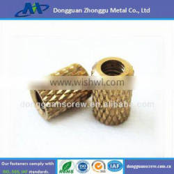 Molded-in threaded inserts brass nut