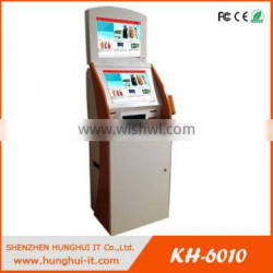 Dual Screen Airport Self Service Kiosk with A4 Printer and Passport Reader