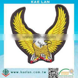Full embroidery eagle design jacket accessory iron-on patch
