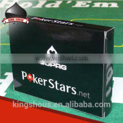 High end poker club playing cards with custom logo