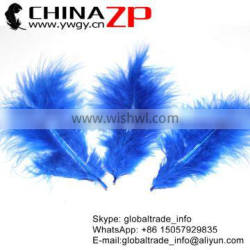 CHINAZP Hot Selling Turkey Plumes Factory Wholesale Cheap Dyed Royal Blue Fluffy Marabou Feather for Bag Accessories