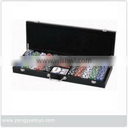 500pcs wholesale cheap poker chips with wooden box PY5076