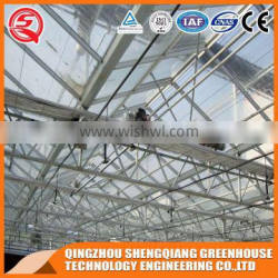 Multi-span hollow tempered glass greenhouse shading sysytems