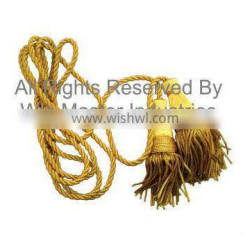 9ft long GOLD coloured banner cords and tassels
