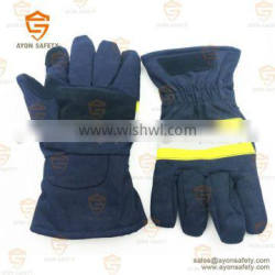 Fireman protective firefighting gloves With elastic cord on the wrist