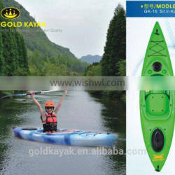 single sit in kayak plastic kayak very popular