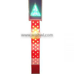 traffic and parking sign post solar traffic delineator post