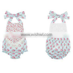 Summer baby clothing floral bubble baby romper boutique M6100306