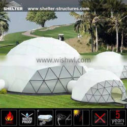 Luxury white pvc geodesic dome tents for sale