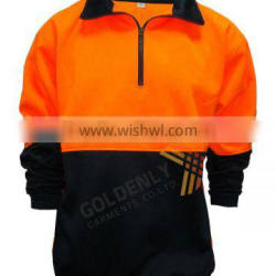 Half zipper opening Safety/reflective/high visibility Fleece Sweater