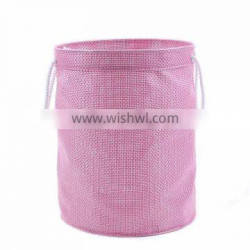 Folding laundry hamper with closing, bathroom basket