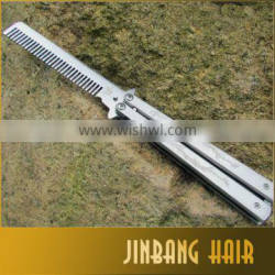 Malaysia Hot Selling Hair styling tool Comb butterfly pattern Camping carved double dragon butterfly knife