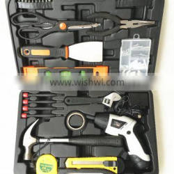 74pcs 4.8Volt cordless screwdriver with LED light /folded handle in BMC packing with accessories