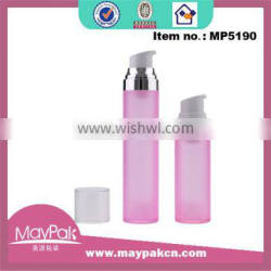 Wholesale High Quality Elegant Design Frosted 30ml 50ml Airless Pump Bottle