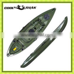 2015 New fishing kayak with rotomolded plastic boat from Cool kayak China manufacturer wholesale