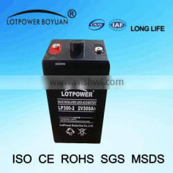 Factory Price 2v 300ah Deep Cycle Battery For Solar System