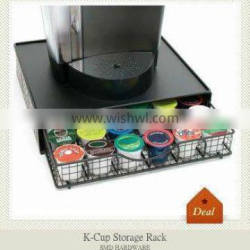 K-cup storage rack for 36 pods