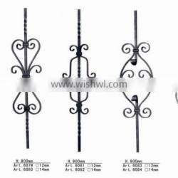 Forged/Cast Hand Forged Wrought Iron Balusters/Rod, Wrought Iron Metal Ornaments For Gates/Fences/Stairs/Railings Art.6077-6086